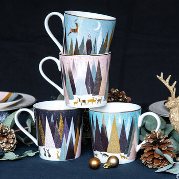 Frosted Pines Mug - Set of 4