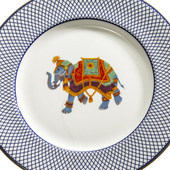 Ceremonial Indian Elephant Dessert Plate