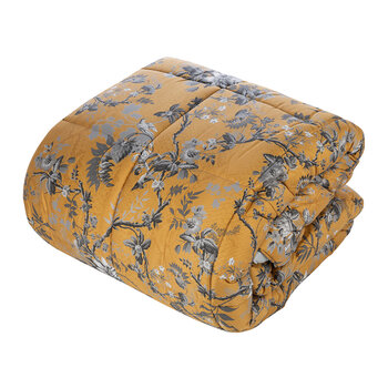 China Birds Comforter - Silver/Gold