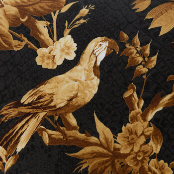 China Birds Duvet Set - Gold/Black