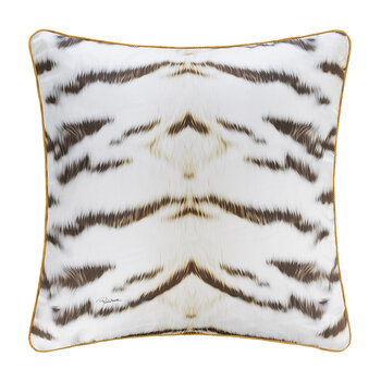 Tiger Frame Silk Cushion - 60x60cm - Gold