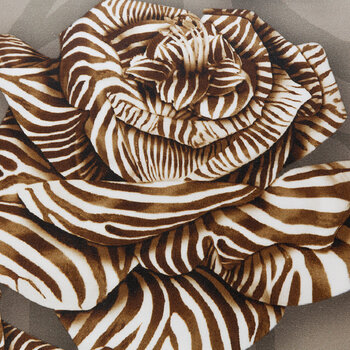 Zebra-Rosen-Bettgarnitur - Sand