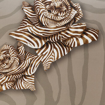 Zebra Rose Bed Set - Sand