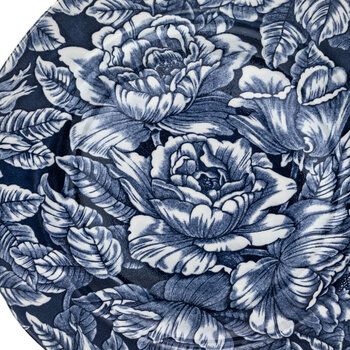 Ink Blue Hibiscus Plate