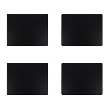 Softbuck Square Table Mat - Set of 4 - Black