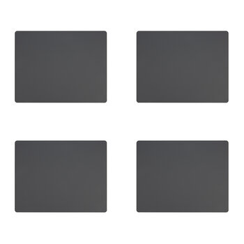 Softbuck Square Table Mat - Set of 4 - Dark Gray