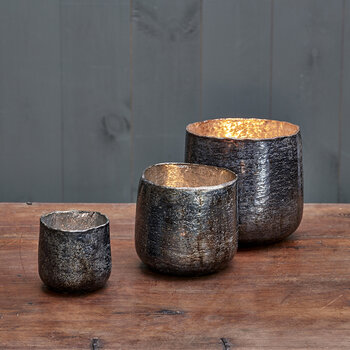 Aban Tealight Holder - Charcoal