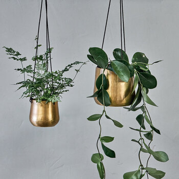 Atsu Hanging Planter - Antique Brass - Large