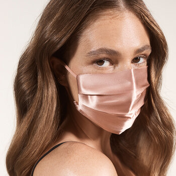 Silk Re-Usable Face Covering - Rose Gold
