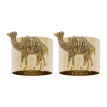 Ronds de Serviette Chameau - Lot de 2 - Or/Topaze