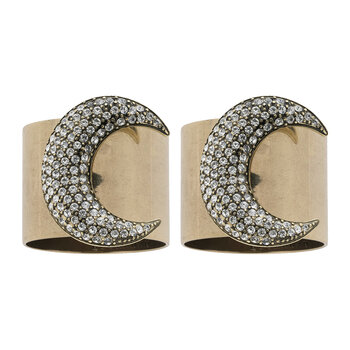 Moon Napkin Rings - Set of 2