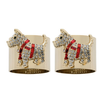Scottie Dog Napkin Rings - Set of 2 - Crystal