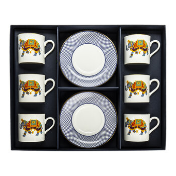 Ceremonial Indian Elephant Coffee Cup & Saucer