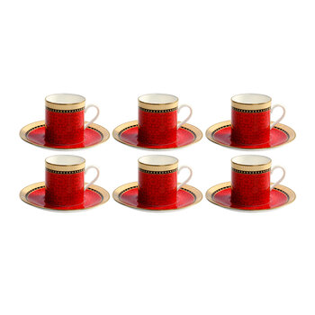 Chapel Royal Livery Coffee Cup & Saucers - Set of 6