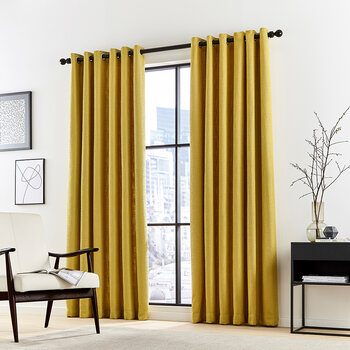 Madison Lined Curtains - Ocher