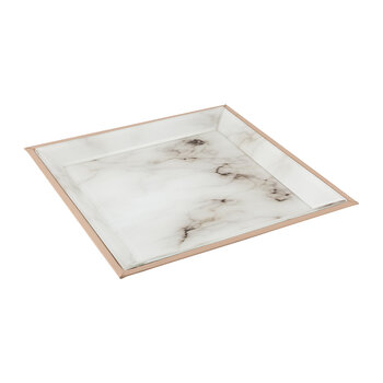 Marble Look Vanity Tray - White