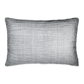 City Pleat Standard Pillowcase - Grey