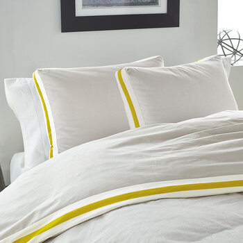 Sport Stripe Standard Pillowcase - Silver/Citron