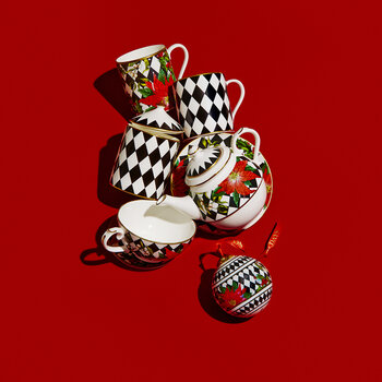Parterre with Poinsettia Bauble - Black
