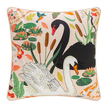 Swan Lake Cushion - Cream