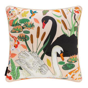 Swan Lake Cushion - Cream - 45x45cm