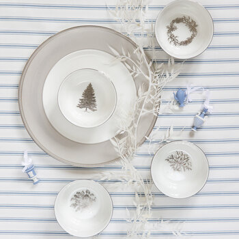 Festive Silver Snack Bowls - Set of 4