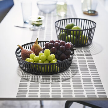Tower Fruit Basket - Wide - Black