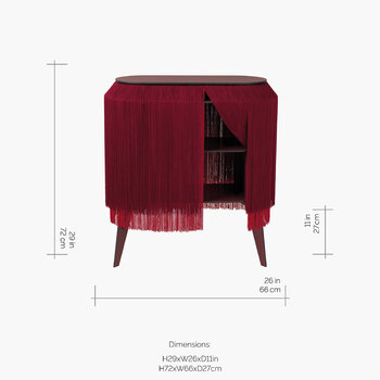 Baby Alpaga Side Table - Blossom Red