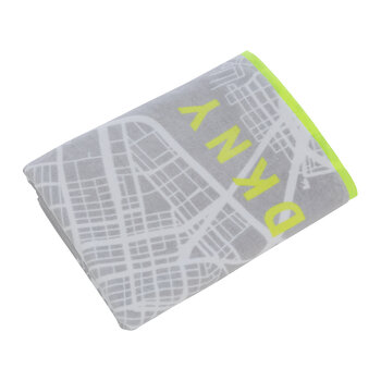 City Map Towel - Grey