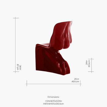Him Chair - Wine Red