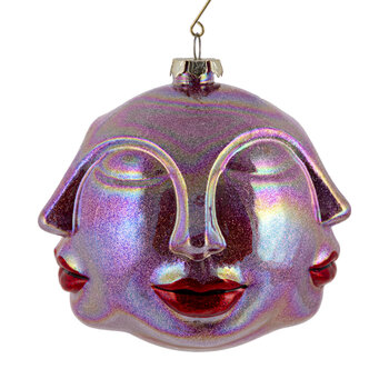 Kiss Face Bauble - Pink