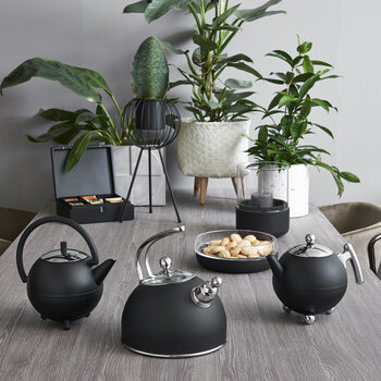 Saturn Teapot - Matt Black