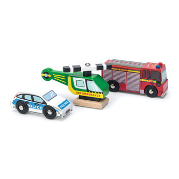 Kids Emergency Services Wooden Toys