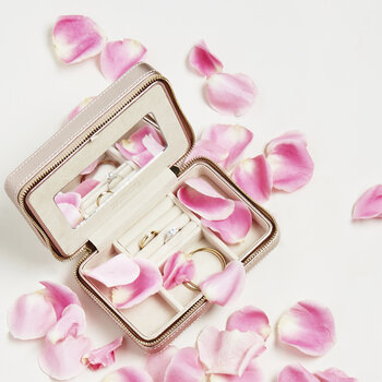 Palermo Zip Jewelry Case - Rose Gold
