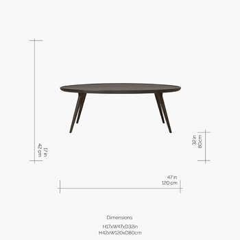 Accent Oval Lounge Table - Sirka Grey