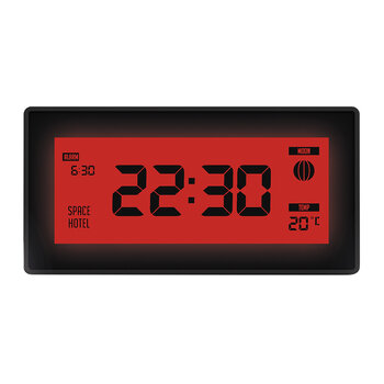 Robot 10 Alarm Clock - Red