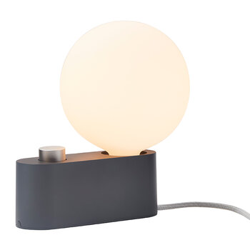 Alumina Table Lamp with Sphere IV - Charcoal