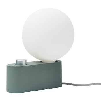 Alumina Table Lamp with Sphere IV - Sage