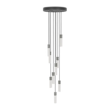Basalt Nine Pendant - Stainless Steel