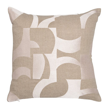 Abstract Pillow - Coral & Natural