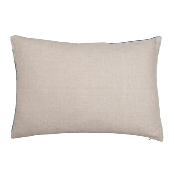 Velvet Linen Cushion - 40x60cm - Lomond Teal & Natural