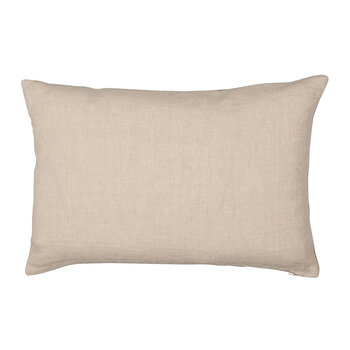 Velvet Linen Cushion - 40x60cm - Oyster & Natural