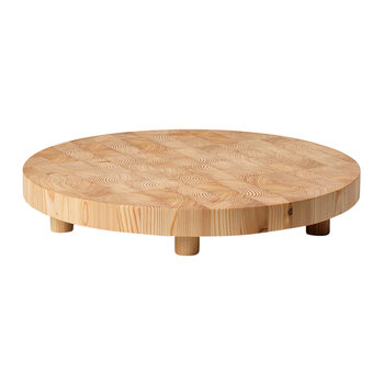 Chess Cutting Board - Natural