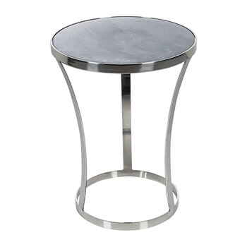 Marble Top Side Table - Grey
