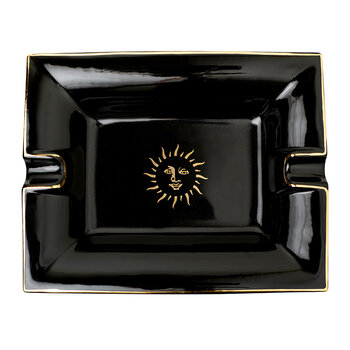 Sun Porcelain Ashtray - Black
