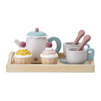 Children's Tea Party Play Set - Grey