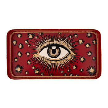 Amara Exclusive Iron Eye Tray - Red