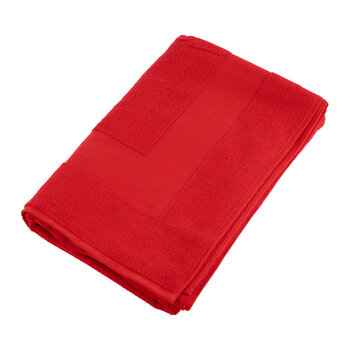 Terry Sculpted Beach Towel - Red
