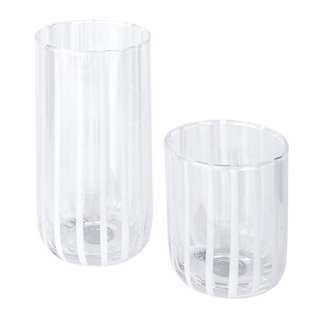 Cabana Highball Glass - White