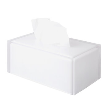 Hollywood Long Tissue Box - Clear